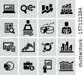 market analysis  diagrams icons | Shutterstock .eps vector #157121384