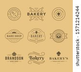bakery logos and badges design... | Shutterstock .eps vector #1571214244
