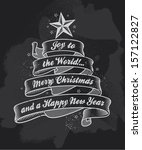 Chalkboard Christmas Greeting...