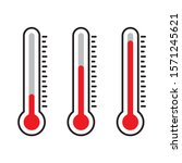 thermometer icon  red... | Shutterstock .eps vector #1571245621