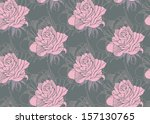 beautiful seamless color rose... | Shutterstock .eps vector #157130765
