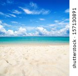 beautiful beach and tropical sea | Shutterstock . vector #157130891