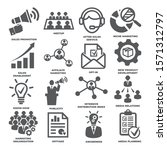 advertising and marketing icons ... | Shutterstock .eps vector #1571312797