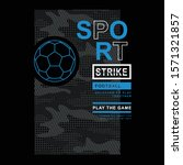 football sport typography  tee... | Shutterstock .eps vector #1571321857