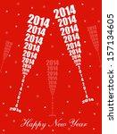 new year 2014 celebration  ... | Shutterstock .eps vector #157134605