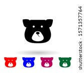 face bear multi color icon....
