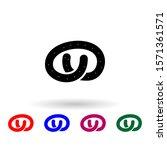 bagel multi color icon. simple...
