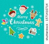christmas greeting illustration ... | Shutterstock .eps vector #1571410714