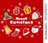 christmas greeting illustration ... | Shutterstock .eps vector #1571410717