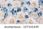 wedding white flowers background | Shutterstock . vector #157141439