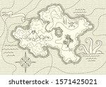 old hand drawn pirate treasure...   Shutterstock .eps vector #1571425021