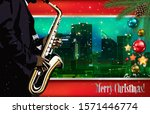 christmas green red... | Shutterstock . vector #1571446774