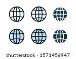 globe  planet icon set.... | Shutterstock .eps vector #1571456947