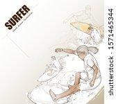 Illustration Of Surfer. Hand...