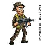 Soldier With Sub Machine Gun....