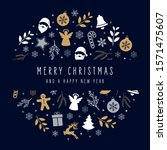 christmas icons elements... | Shutterstock .eps vector #1571475607