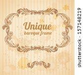 vector vintage baroque... | Shutterstock .eps vector #157148219