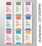 fine quality seafood labels set.... | Shutterstock .eps vector #1571505994