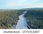 Russian Siberia In Winter. Sno...