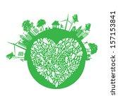 vector ecology concept   | Shutterstock .eps vector #157153841