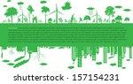 go green city. industry... | Shutterstock .eps vector #157154231