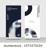 black round abstract shapes... | Shutterstock .eps vector #1571573224