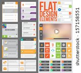 flat web design elements ... | Shutterstock .eps vector #157158551