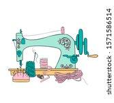 Vintage Sewing Machine Vector...