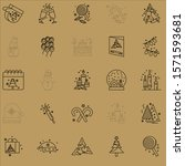 christmas symbols set. outline...   Shutterstock .eps vector #1571593681