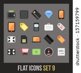 flat icons set 9   shopping and ...