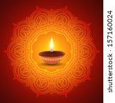 decorative diwali lamp design   Shutterstock .eps vector #157160024
