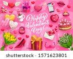 happy valentines day romantic... | Shutterstock .eps vector #1571623801