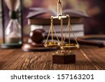 mallet  legal code and scales... | Shutterstock . vector #157163201