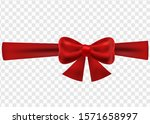 christmas ribbon with bow on an ... | Shutterstock .eps vector #1571658997