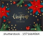 decorations with flowers of red ... | Shutterstock . vector #1571664064