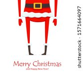 legs of santa claus isolated on ... | Shutterstock . vector #1571664097