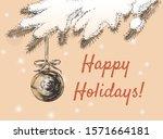happy holidays vector... | Shutterstock .eps vector #1571664181
