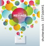 envelope and bubble speech.... | Shutterstock .eps vector #157166441
