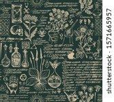 vector seamless pattern on the... | Shutterstock .eps vector #1571665957