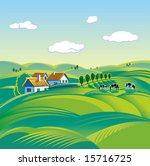 summer day  rural landscape | Shutterstock .eps vector #15716725