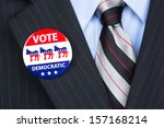 a democratic voter proudly... | Shutterstock . vector #157168214
