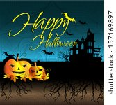 happy halloween design... | Shutterstock . vector #157169897