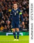 Small photo of Glasgow, Scotland, United Kingdom – September 6, 2019. Scotland national football team captain Andrew Robertson during UEFA Euro 2020 qualification match Scotland vs Russia in Glasgow.
