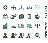 management icon   color | Shutterstock .eps vector #157172531