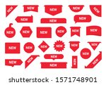 new tag ribbon and banner... | Shutterstock .eps vector #1571748901