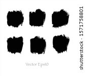 vector brush stroke watercolor... | Shutterstock .eps vector #1571758801