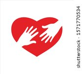 heart icon vector isolated on... | Shutterstock .eps vector #1571770534
