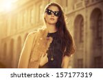 beautiful fashionable woman... | Shutterstock . vector #157177319