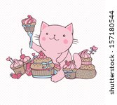 Cat Eat Sweet Cupcakes