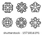round celtic ornament... | Shutterstock .eps vector #1571816191